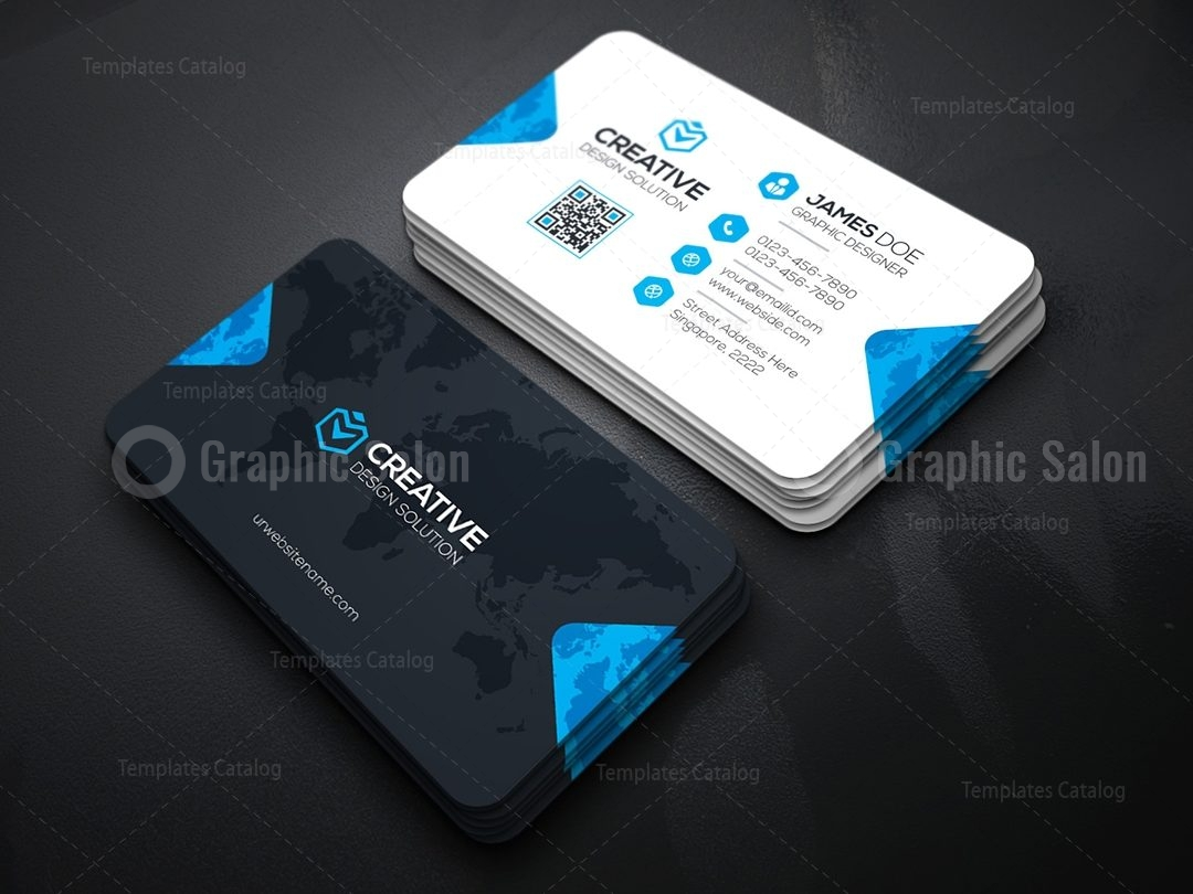 Minimal business card templates graphic templates creative company business card template wajeb Images