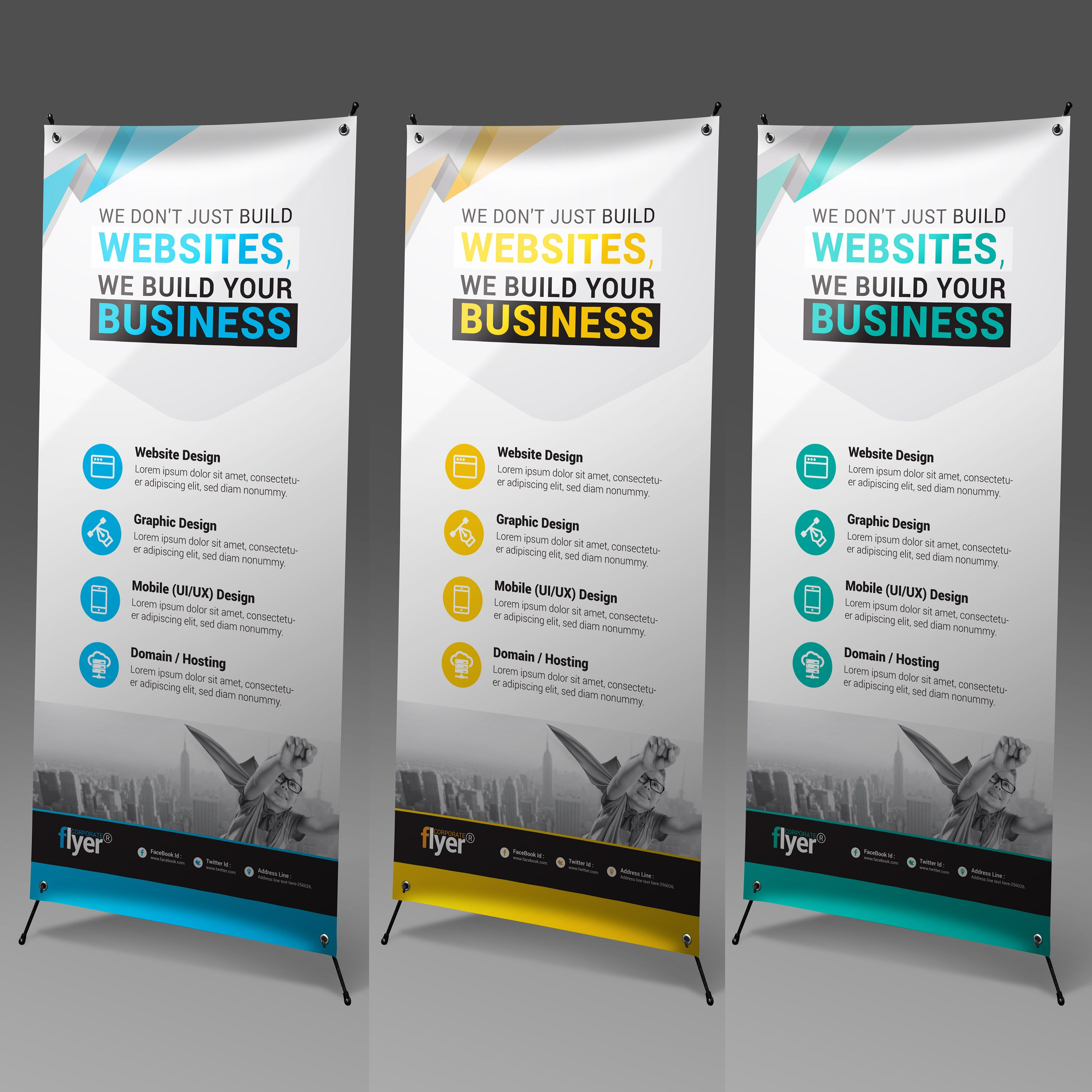 onstruction Roll-Up Banner Design Template