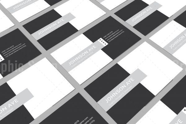 Checkered Visiting Card Templates