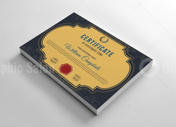 Excellent Certificate Template
